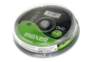 maxell dvd + r spindel 10